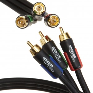 AmazonBasics RCA Component Video Cable 6 Feet 18 Meters